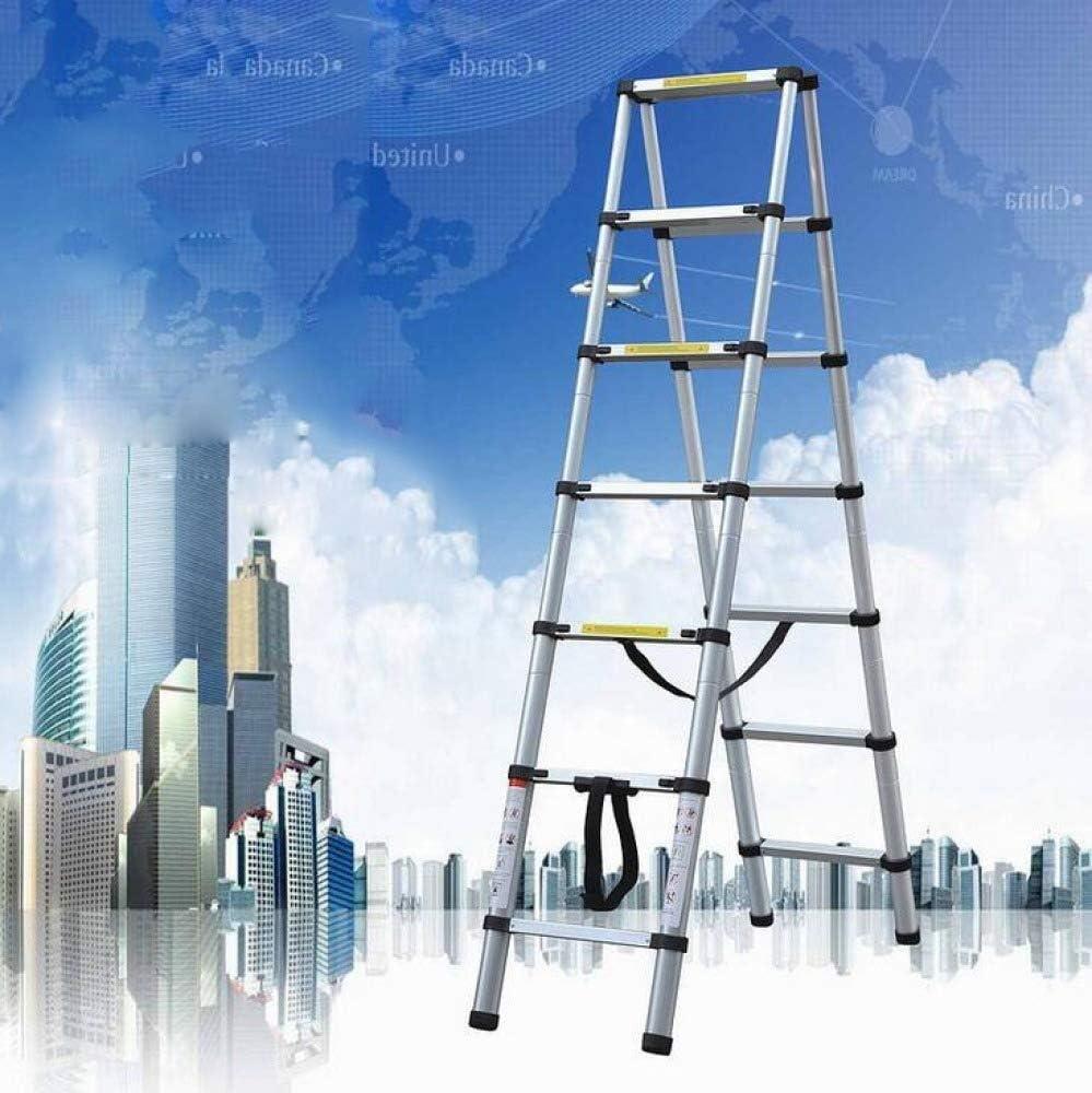 TD Paso Heces De Aluminio Telescópica Escalera con Bastidor De Extensión Telescópica Plegable Multipropósito Sube Escaleras Escalera (Size : 3.2M+3.2M-AFontLadder): Amazon.es: Hogar