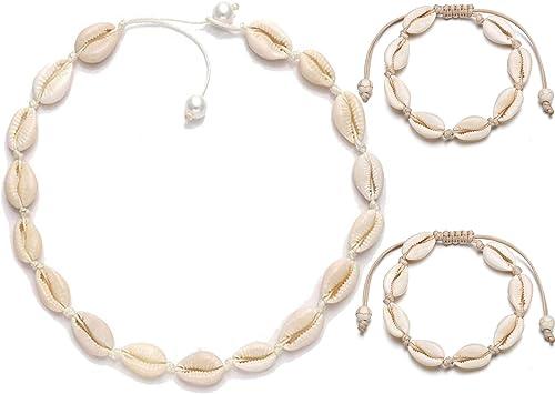 Mujeres Niñas Moda Verano Playa Shell Necklace Seashell CONCHA COWRIE Gargantilla
