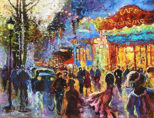 """Le Cafe Boheme de Paris"" by Gerard Valtier"