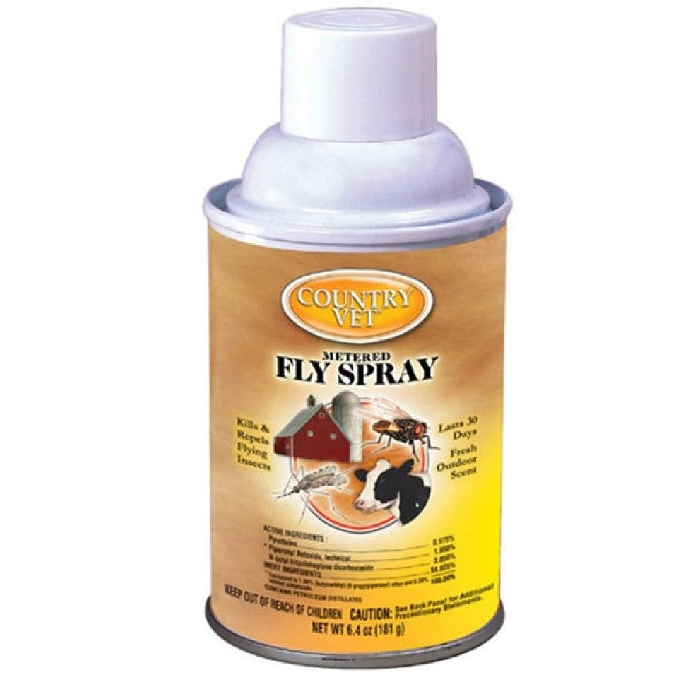 Country Vet Metered 6.4 Oz Flies Fly Spray Kills Mosquitoes Gnats Horse Tack