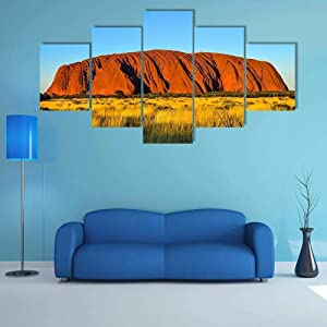 TOPJPG Custom Painting Pictures Rock Mountain Surrounded by Green Grass Decoration Canvas Prints Wall Art Framework Modern Art Decor Bathroom Bedroom Kitchen Modular Framed Ready to Hang