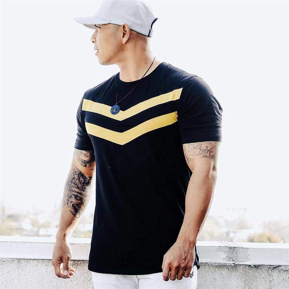 AYN Hombres Camiseta de algodón de Manga Corta Camiseta Negra ...