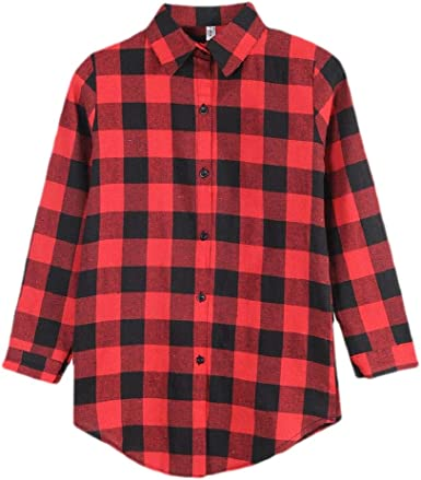 Camisa de Seguridad para Mujer, de Franela, con Botones, de Manga Larga, para Novio Rojo Rosso S: Amazon.es: Ropa y accesorios