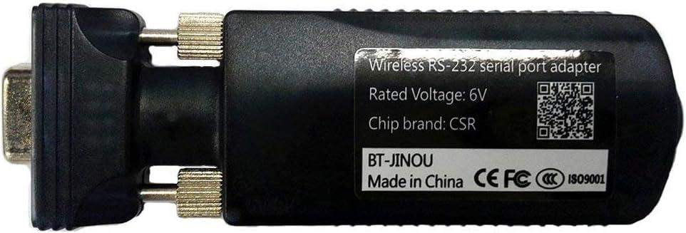 Jinou Bluetooth Serie RS2323.0Hembra Adaptador, RS232a Bluetooth , 10M, Class 2, Antena incorporada, DB9Pin