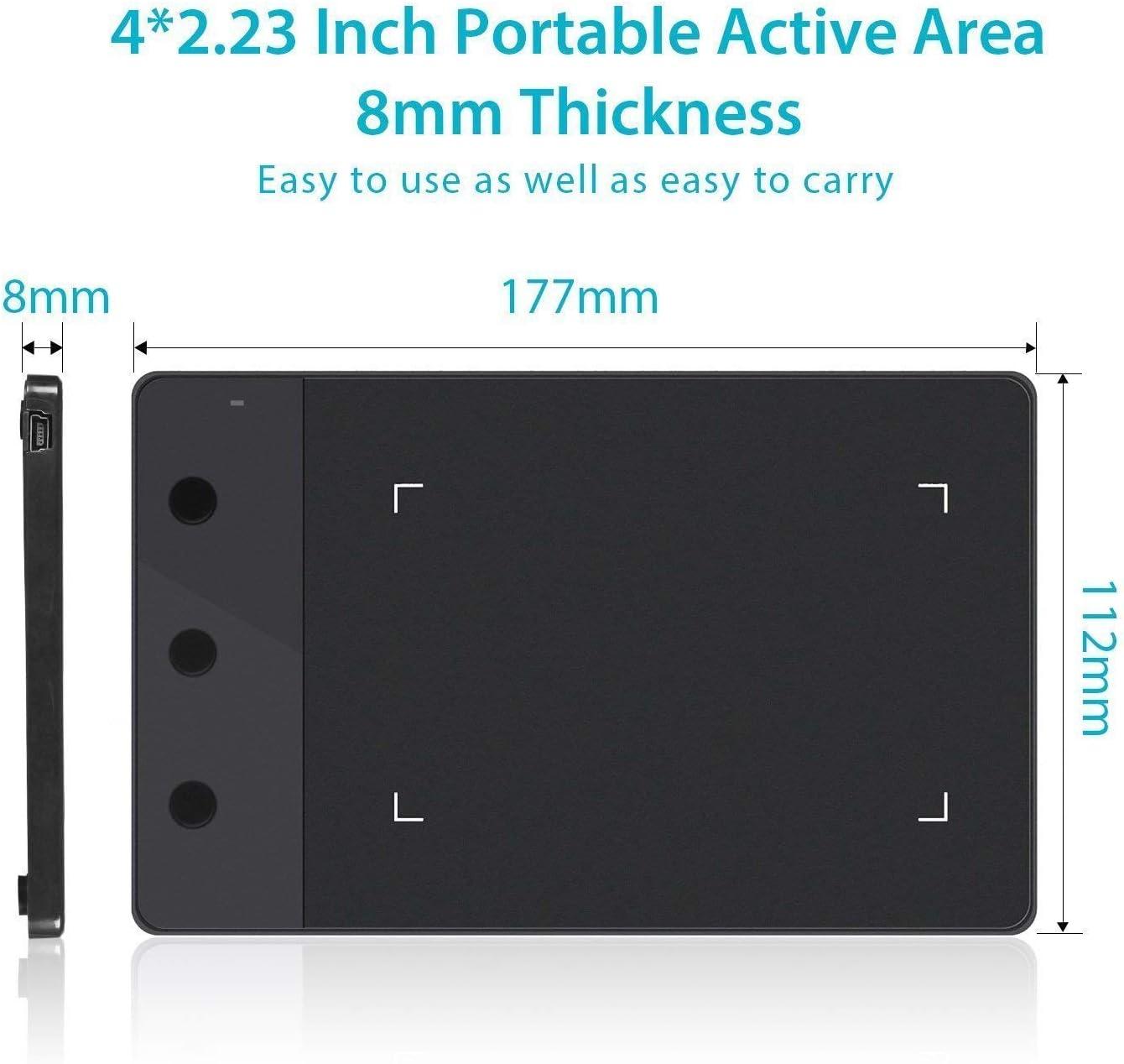 HUION H420 - Tableta digitalizadora, con 3 Acceso Directo, tamaño ...