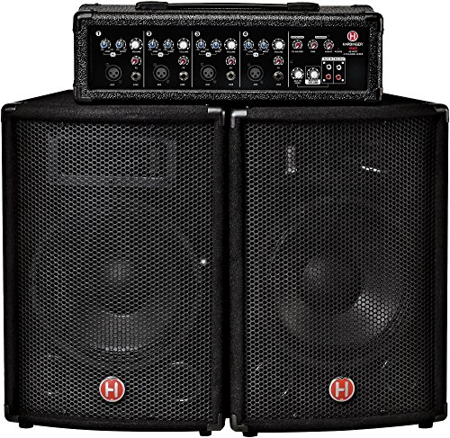 Harbinger M60 60-Watt, 4-Channel Compact Portable PA with 10 in. ()