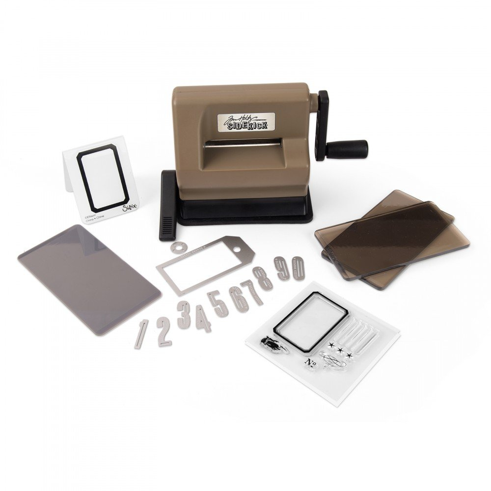 Sizzix 662535 Sidekick Starter Kit Featuring Tim Holtz Designs, Brown & Black Ellison