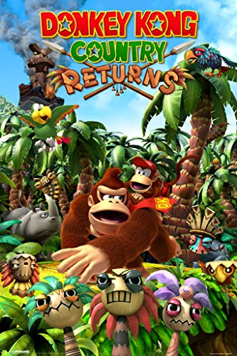 Pyramid America Donkey Kong Country Returns Video Game Cool Wall Decor Art Print Poster 12x18