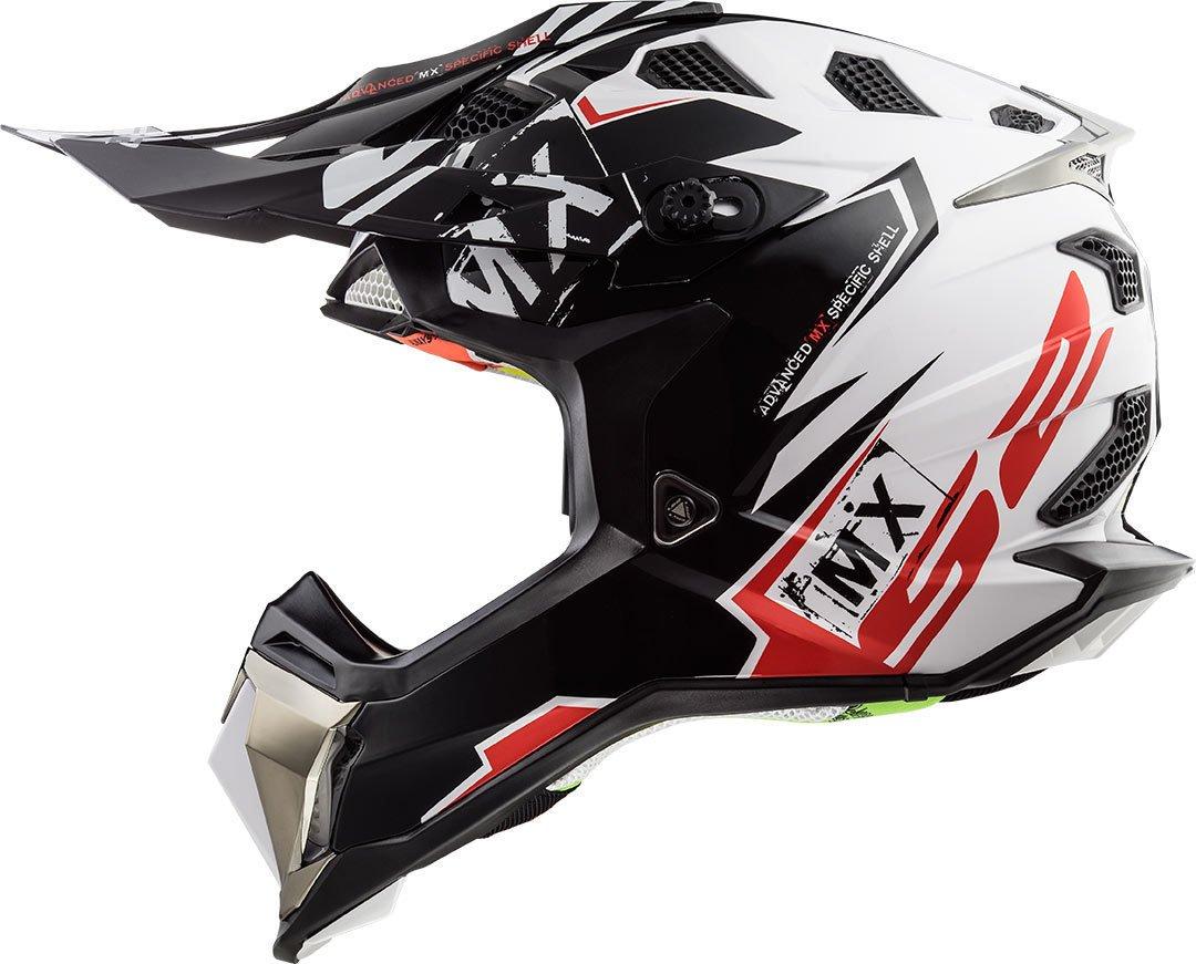 LS2 MX470 Subverter Emperor Motocross Helm Schwarz//Orange XS 53//54