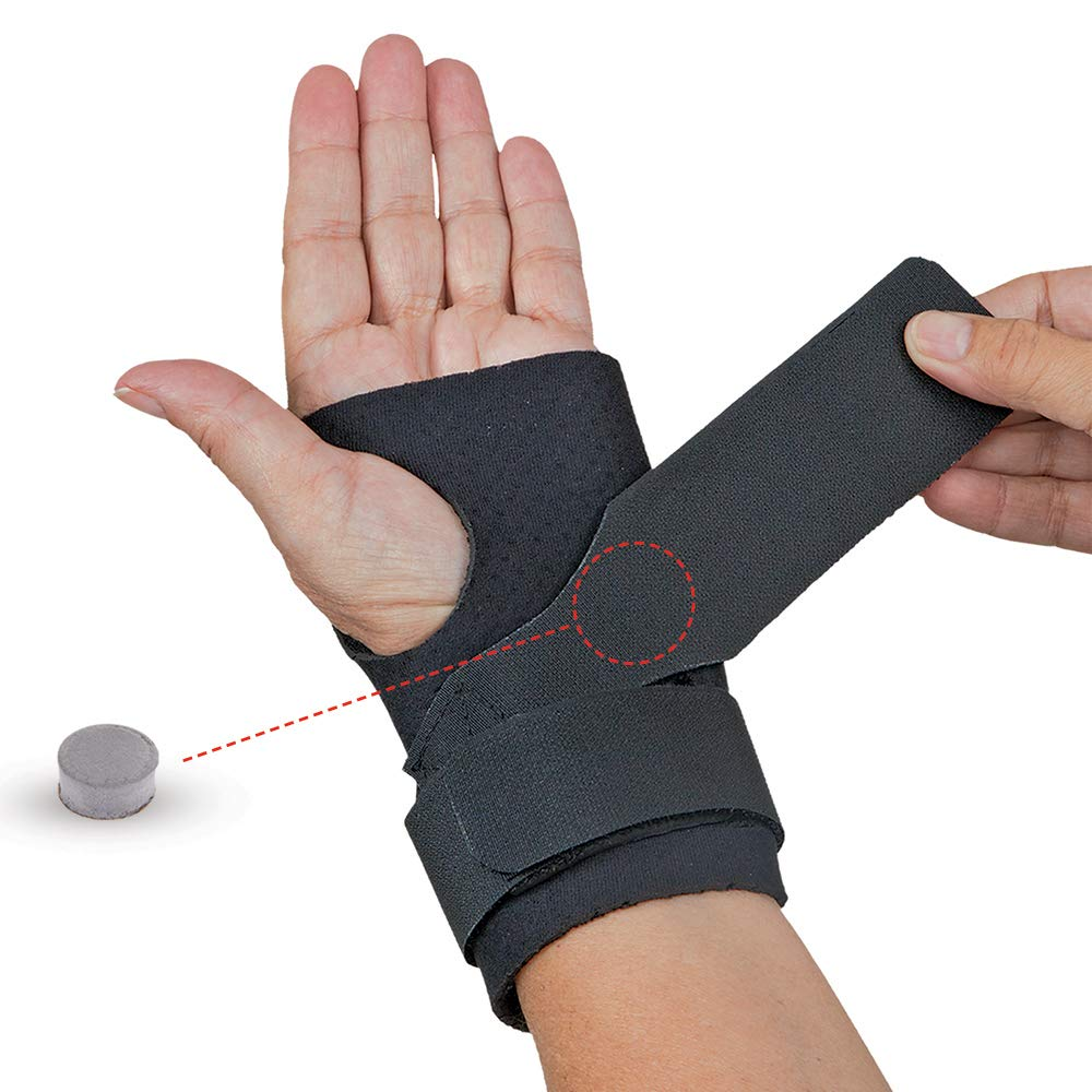 Comfort Cool Ulnar Booster Support Provides Compression for Ulnar Sided Wrist Pain. TFCC Tear Triangular Fibro-Cartilage Complex Injuries, Tendonitis or Repetitive Use Injury. Left or Right in Black