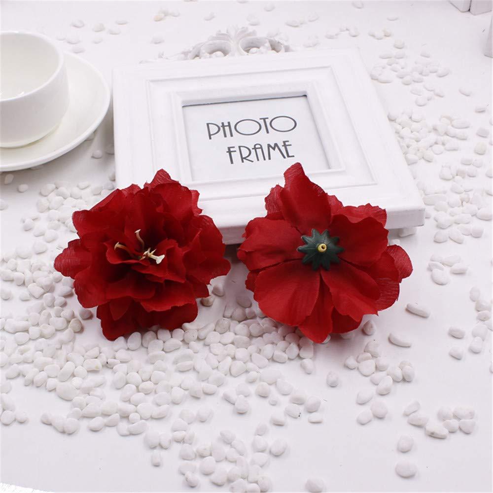 フェイク牡丹の花 造花 シルク ウェディングパーティー ホームガーデンデコレーション 2個 B07H4K1XFL 5