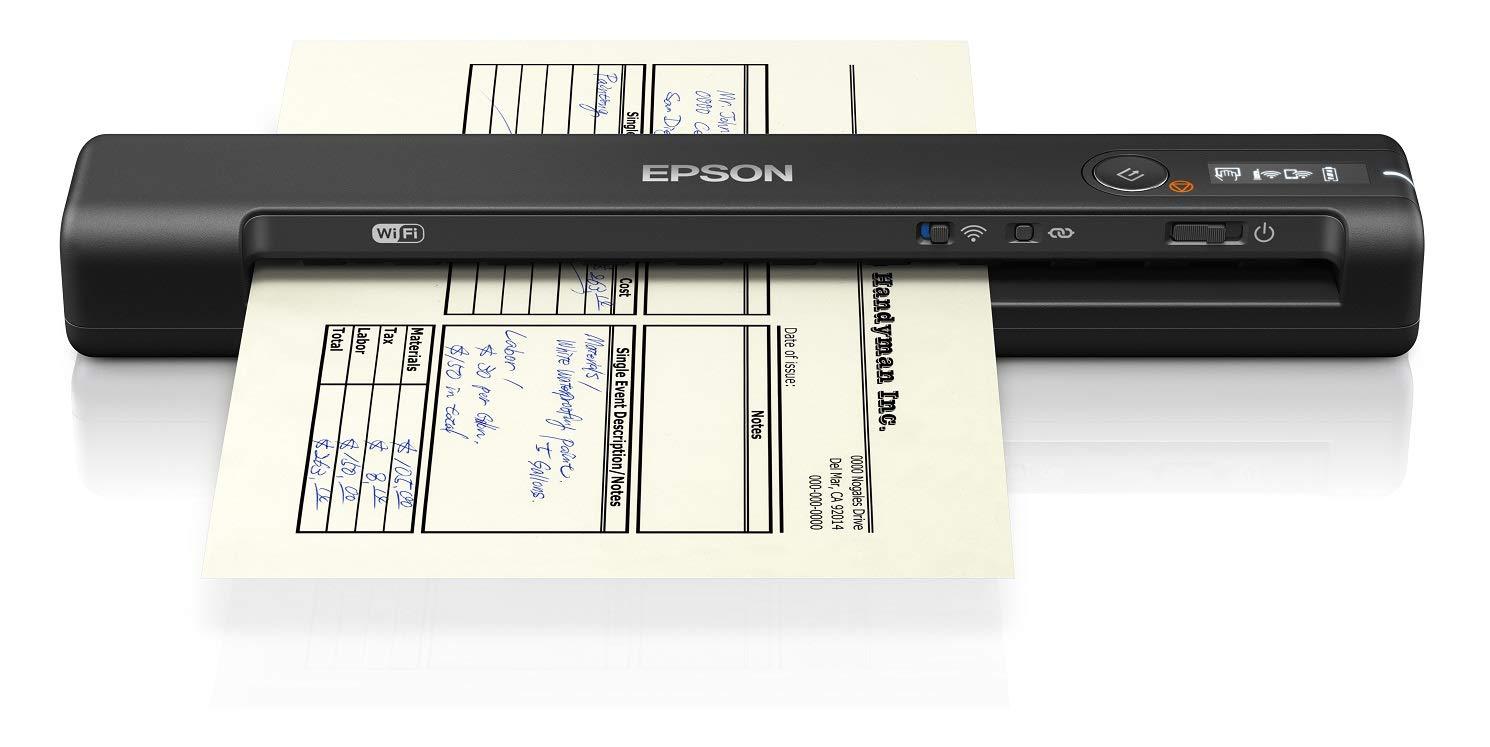 600 x 600 DPI, 4 Sec//Page, 4 Sec//Page, 4 Sec//Page, 4 Sec//Page, Monochrome Epson Workforce ES-60W Scanners