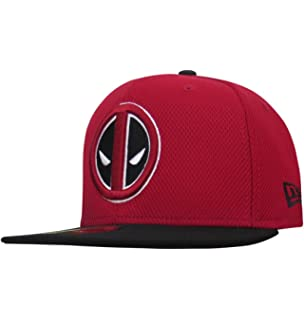 New Era Deadpool Symbol Red & Black 59Fifty Fitted Hat