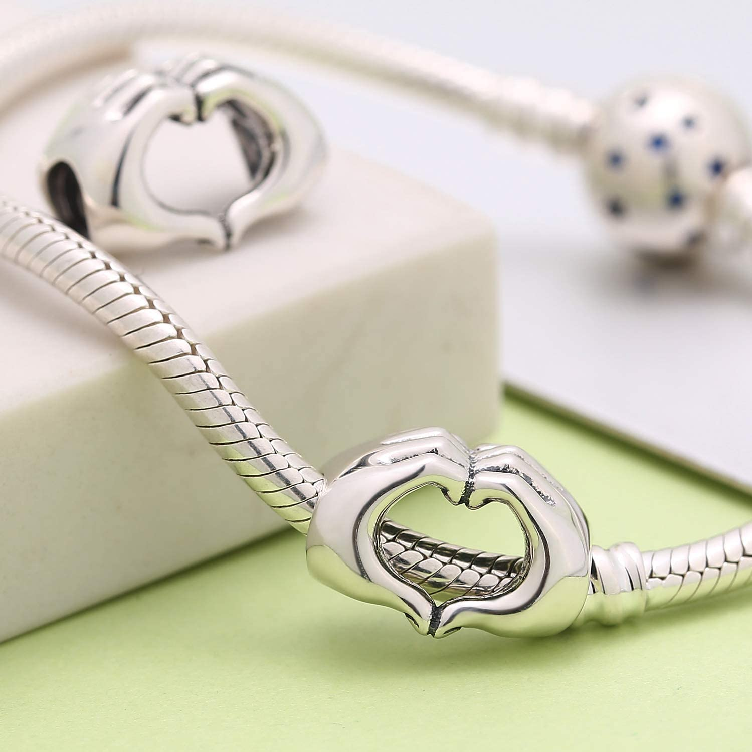 Love Heart Charms JH913 Valentines Charms Heart Charms 5 Sterling Silver Love Charms 925 Silver Love Charms