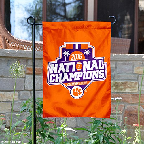 Clemson Tigers 2016 National Champs Official Logo Garden Flag by College Flags and Banners Co.