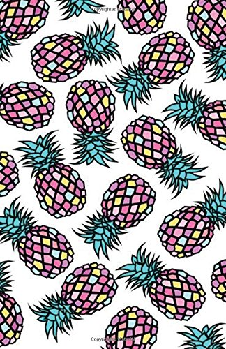 """Read Online Sketchbook: Colorful pineapple : 120 Pages of 5.5"""" x 8.5"""" Blank Paper for Drawing, Doodling or Sketching (Sketchbooks) PDF"""