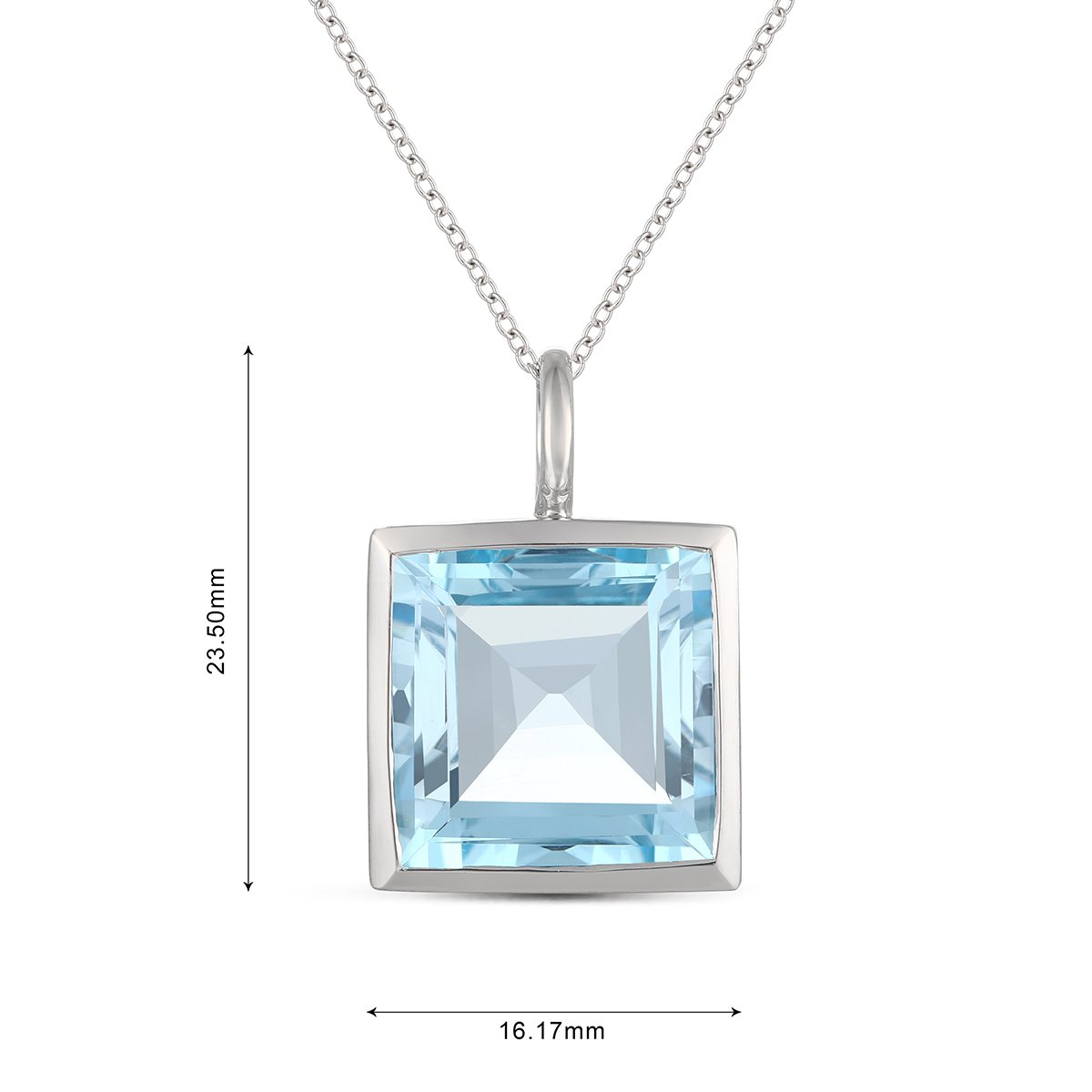 Easter Offer, Jewel Ivy 925 Sterling Silver Pendant with Sky Blue Topaz by Jewel Ivy (Image #3)