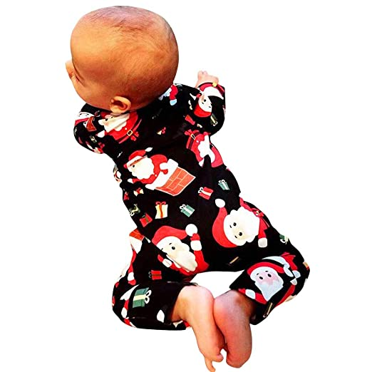 451411c9e9 0-18 Months Toddler Infant Baby Boys Girls Christmas Xmas Cartoon Santa  Romper Jumpsuit Outfits Gift  Clothing
