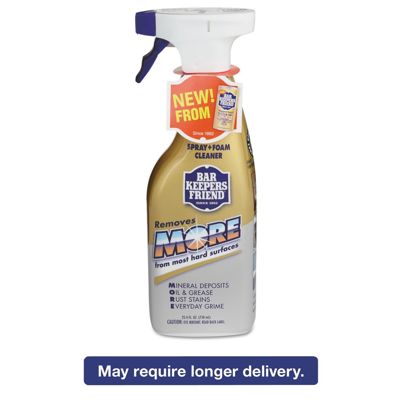 Bar Keepers Friend 11727 More Spray + Foam Cleaner 25.4 oz Spray Bottle Citrus 6/Carton by SERVAAS LABORATORIES