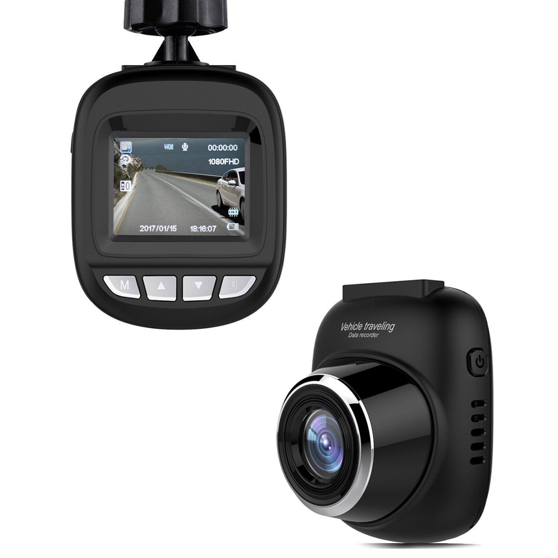 Joso Dash Cam, DVR Digital G-Sensor WDR Driving Video dashboard Recorder Mini Vehicle Hidden Car Camera Full HD 1080P With 140° Wide-Angle Lens, Loop Recording, Motion Detection/Parking Monitor