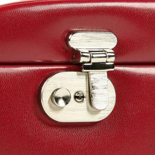 Windrose Merino Schmuckkoffer mit 6 Seitenschubladen 0 rot - 8