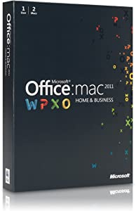 Microsoft Office 2011 Mac Home and Business 1 User 2 Macs DVD