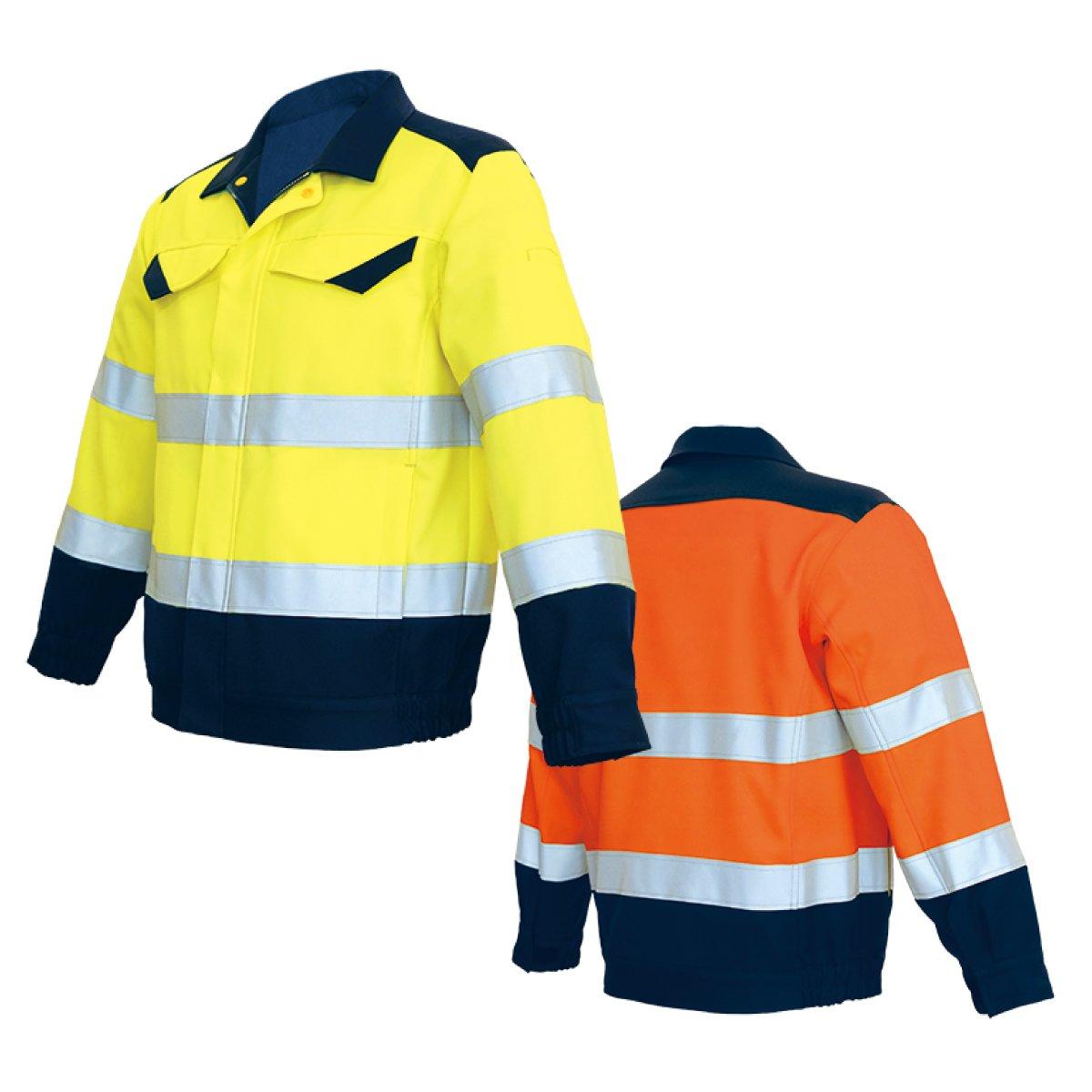 アゼアス 高視認性防護服 ブルゾン オレンジ 3L 62-4094-07/AZLITE13100O-3L B01684D3T6 3L|蛍光オレンジレッド 蛍光オレンジレッド 3L