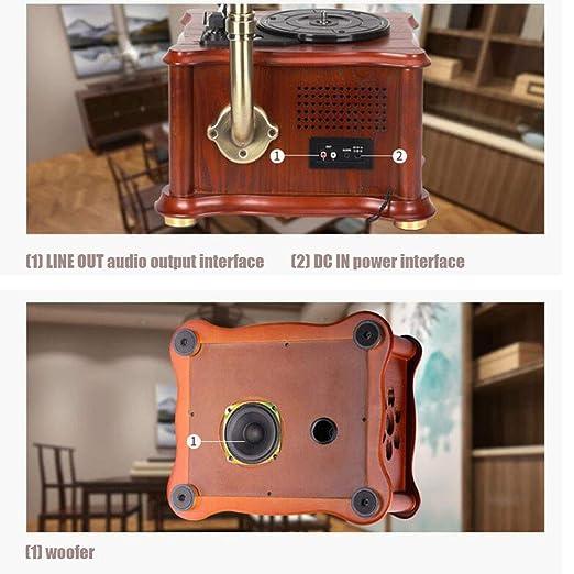 LVSSY-Gramófono Retro Popular Moderno Fonógrafo Combinado ...