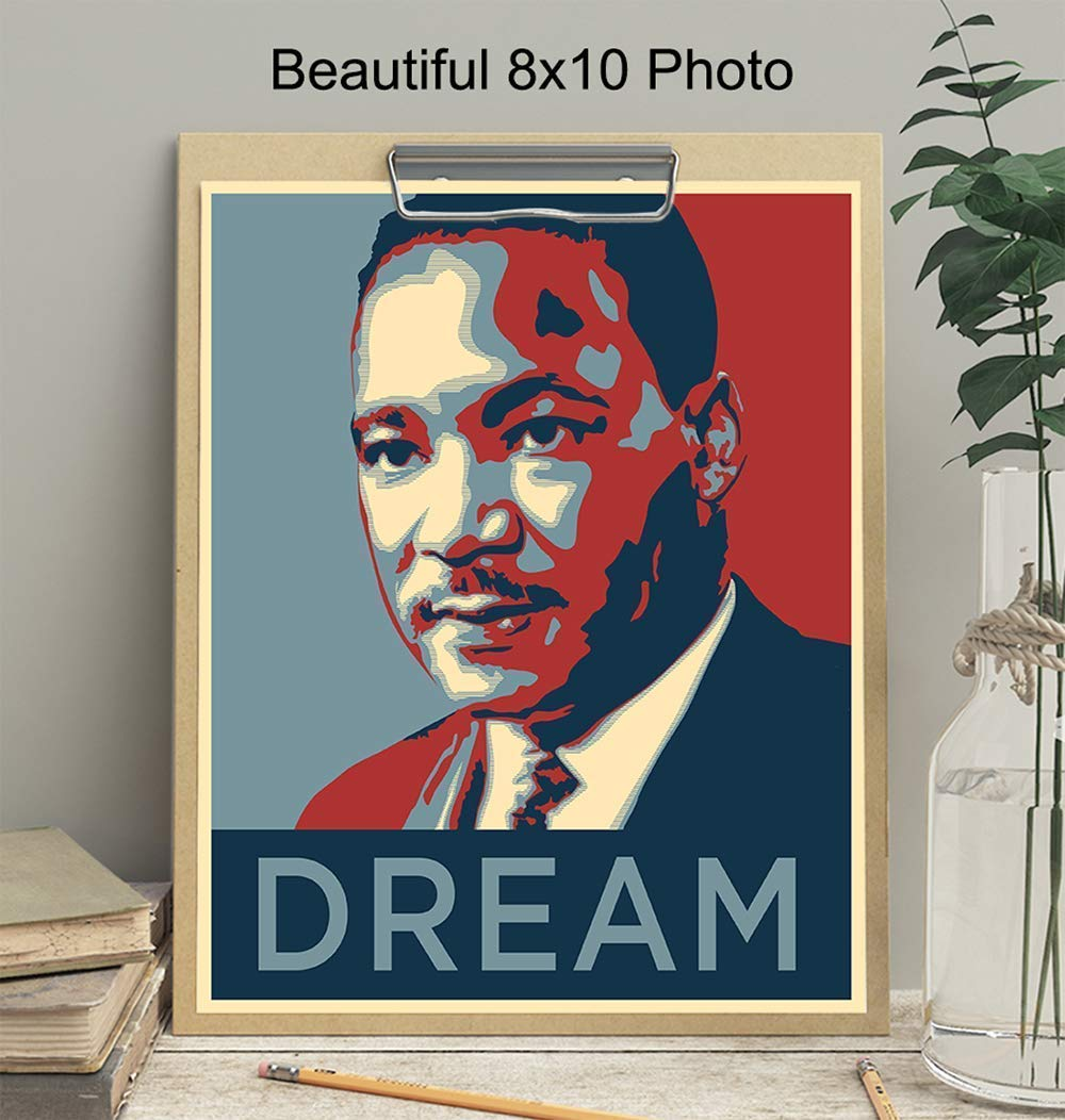 Historic Art Gift Wall Art MLK /& Obama Change I have a Dream