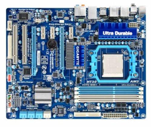 Gigabyte GA-890XA-UD3 Mainboard Sockel AMD AM3 790X + SB850 2x DDR3 Speicher ATX