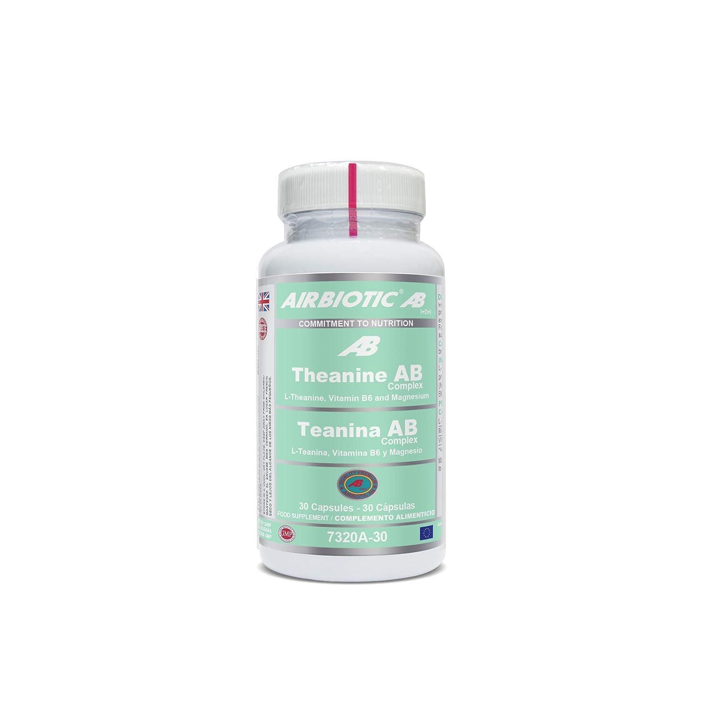 Airbiotic AB - Teanina AB Complex - 30 cápsulas. Aminoácidos para reducir el estrés mental: Amazon.es: Salud y cuidado personal