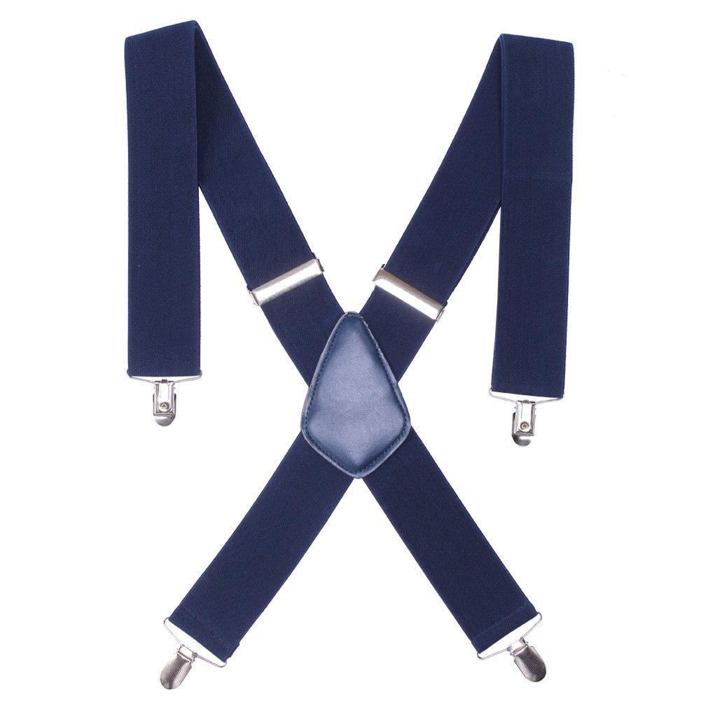 Mens X Form Hosen Hosenträger verstellbaren elastischen Schultergurt Solid Clip Straps