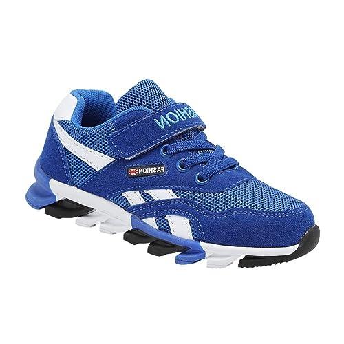 Daytwork Zapatos para Niña Niño Aire Libre y Deporte Running - Correr Carretera Ligeras Zapatillas de Deporte Respirables Entrenadores Caminar con Cordones ...