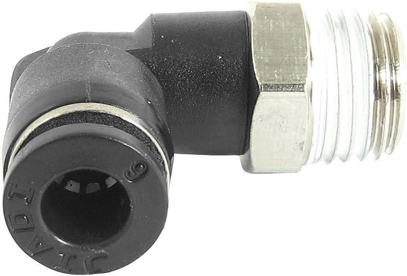 sourcingmap/® 5Pcs 1//4BSP m/âle 6mm air coude pneumatique Connecteurs Quick Connect