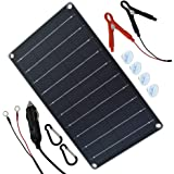 TP-solar 10 Watt 12 Volt Solar Panel Car Battery Charger 10W 12V Portable Solar Trickle Battery Maintainer with…