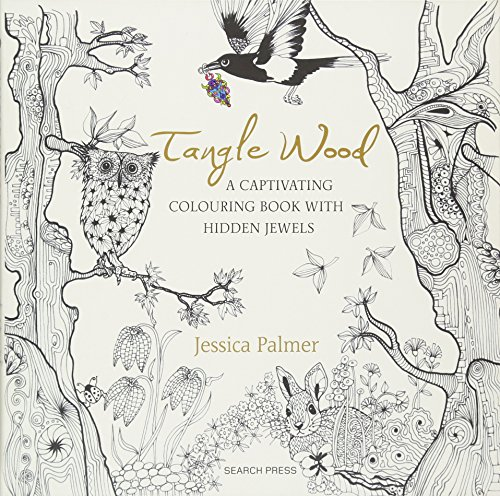 Tangle Wood: A Captivating Colouring Book with Hidden Jewels - Hidden Jewel