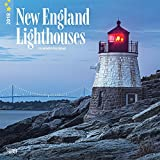img - for Lighthouses, New England 2018 12 x 12 Inch Monthly Square Wall Calendar, USA United States of America East Coast Scenic Nature (Multilingual Edition) book / textbook / text book