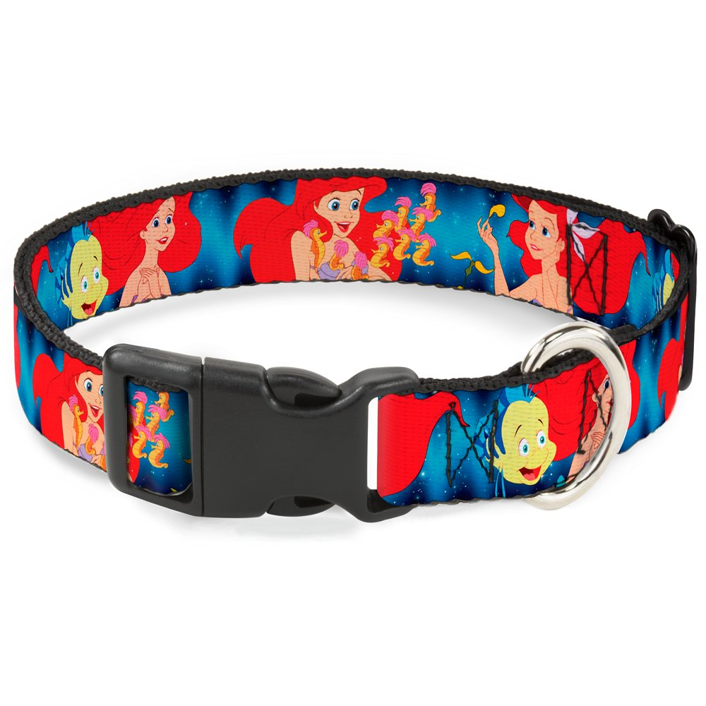 Buckle-Down Breakaway Cat Collar - The Little Mermaid Under the Sea Scenes - 1/2'' Wide - Fits 9-15'' Neck - Large