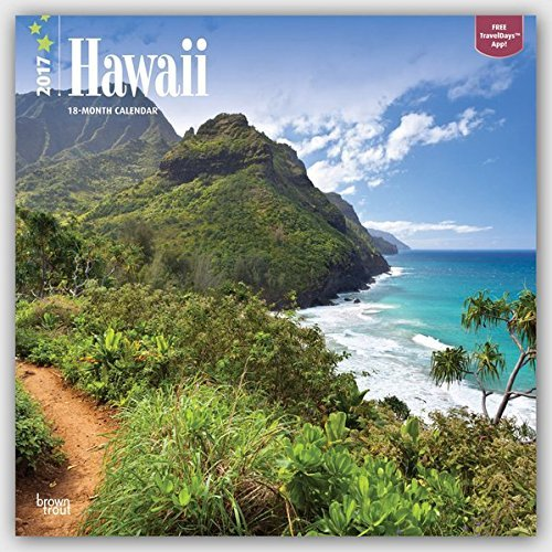 2017 Monthly Wall Calendar - Hawaii