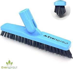 EVERSPROUT Grout Brush Scrubber Pro | Stiff V-Shaped Bristles Built for Corners & Tough Grime | Swivel Design Cleans Shower Tile, Kitchen, Bathroom, Outdoor Concrete | Twist-on Attachment (No Pole)