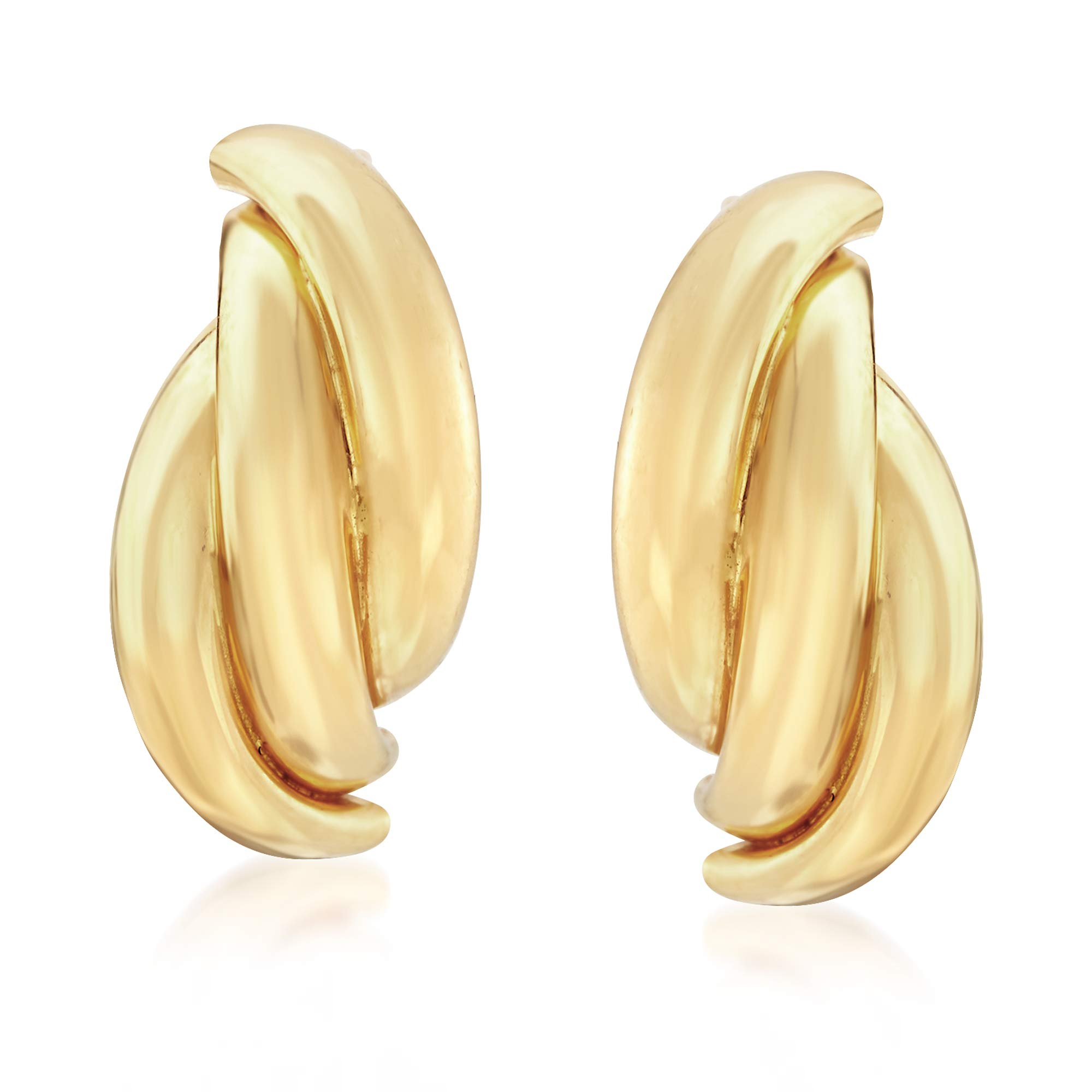 Ross-Simons 22kt Yellow Gold Twisted Drop Earrings
