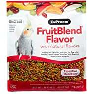 Zupreem Fruit Blend Diet For Medium Birds, 2-Pound