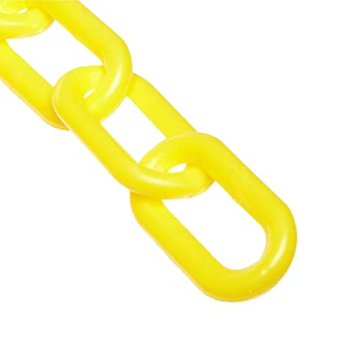 Mr. Chain Plastic Barrier Chain, Yellow, 2-Inch Link Diameter, 10-Foot Length (50002-10): Industrial & Scientific