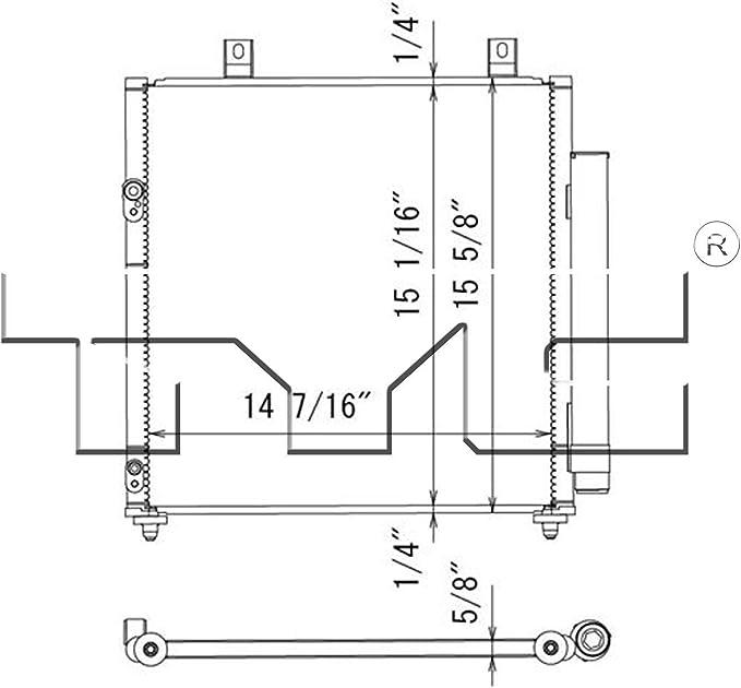 TYC 4331 Mitsubishi Mirage Replacement Condenser