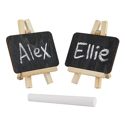 eBuyGB Mini Caballete Tiza/Negro Board-Reusable Nombre ...