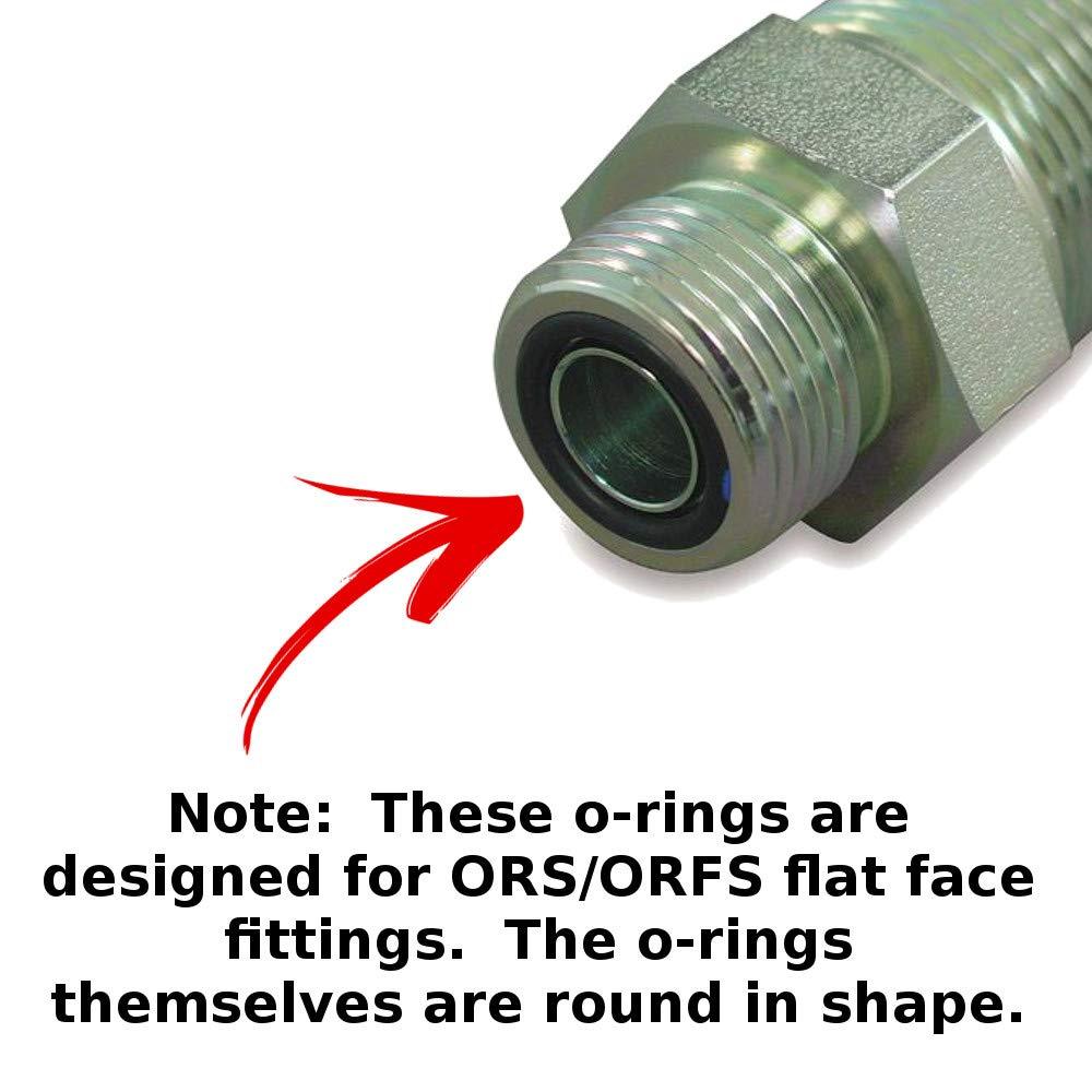 Captain O-Ring ORS Flat Face Hydraulic O-Ring Seal Kit (Buna 90 / BN90-180  Piece Kit)