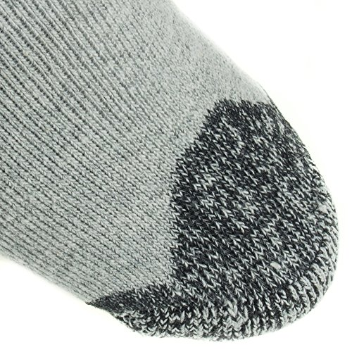 Working Person's 8766 Grey 4-Pack Steel Toe Crew Socks - Made In The USA (Large) by The Working Person's Store (Image #3)'