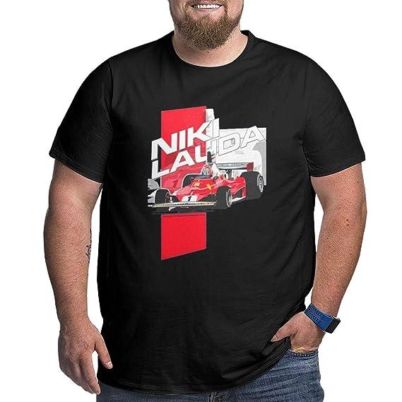 Desconocido Niki Lauda F1 19762 Hombres Camiseta con Cuello en R de Gran tamaño Negro 6XL: Amazon.es: Ropa y accesorios