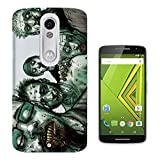 C0751 - Scary Zombie Field People Zombies Blood Gore Design Motorola Moto X Play Fashion Trend CASE Gel Rubber Silicone All Edges Protection Case Cover