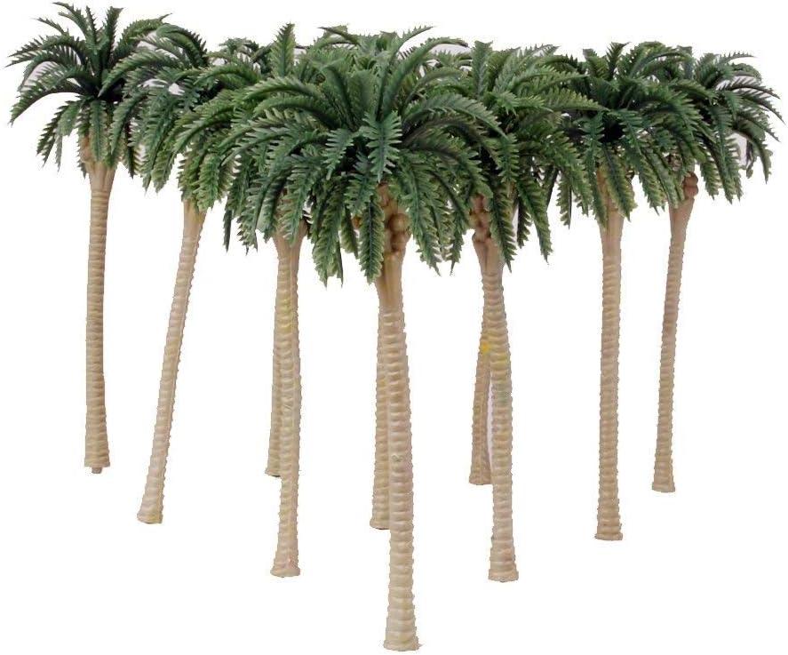 mi ji 10 PCS Artificial Palmeras del Coco del Modelo del Paisaje en Miniatura de la Diorama Disposición Arquitectura Los árboles de Bricolaje del Paisaje del Paisaje Verde Natural para su casa